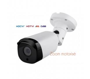 Caméra extérieure, série PRO, IR 50 m. 2,4MP en 1080P. Objectif motorisé de 2,8-12 mm autofocus. OSD