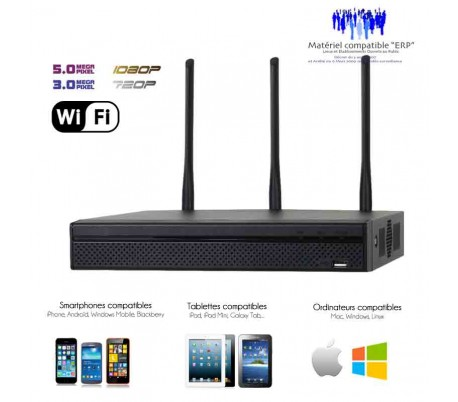 dvr enregistreur wifi de video surveillance 4 canaux ip. Black Bedroom Furniture Sets. Home Design Ideas