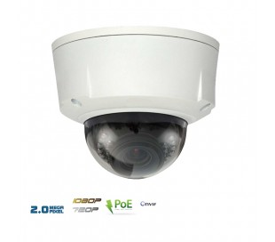 Caméra IP dôme extérieure varifocale 2,7~12 mm