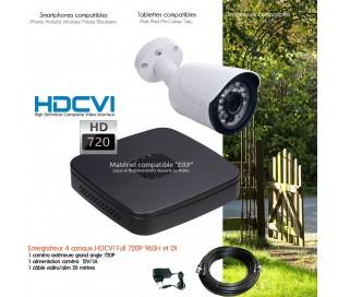 Kit de vidéo surveillance 1 caméra extérieure HD 720P