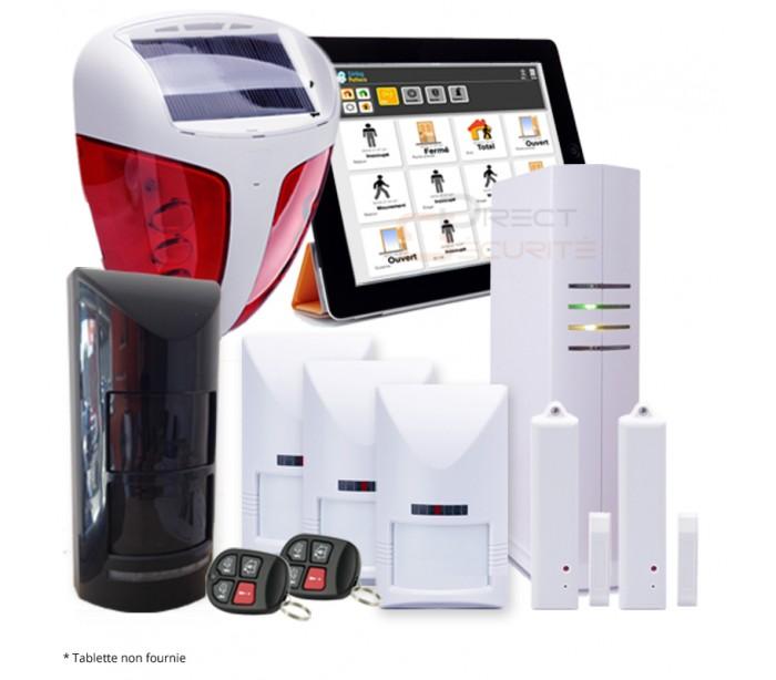 alarme intrusion sans fil great pack alarme maison sans fil gsm meian titan et sirne solaire. Black Bedroom Furniture Sets. Home Design Ideas