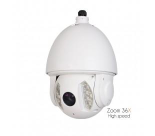 Caméra extérieure motorisée avec IR 150 mètres, zoom 36X de 3.4 à 122,4mm