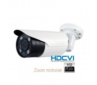 Caméra extérieure zoom motorisé 2,8-12mm, vision de nuit 50 mètres