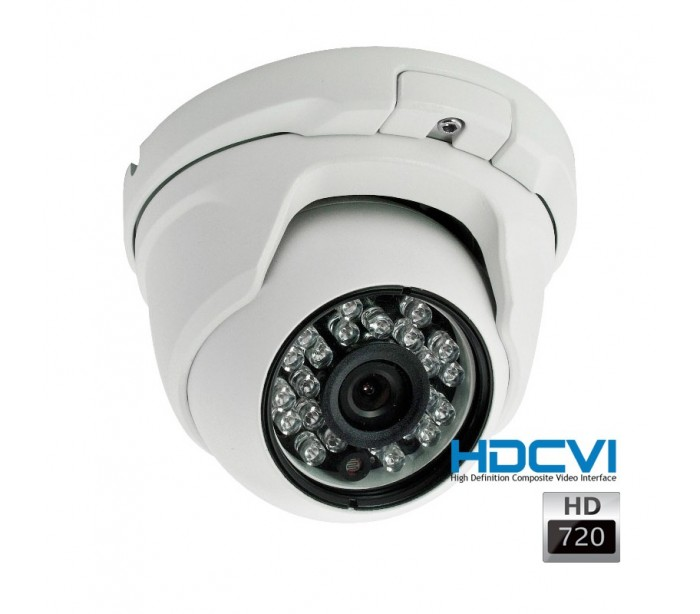 kit de video surveillance hdcvi avec 1 cam ra d me hdcvi 720p. Black Bedroom Furniture Sets. Home Design Ideas