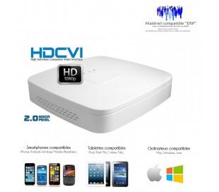 Enregistreur de vidéo surveillance Full 1080P HDCVI  4 canaux