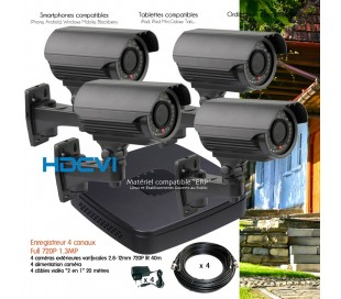 video surveillance cam ra de surveillance enregistreur dvr kit de videosurveillance prix. Black Bedroom Furniture Sets. Home Design Ideas