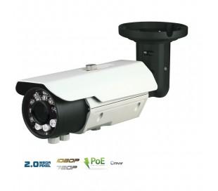 Caméra IP 2MP extérieure, PoE, varifocale, IR 40 m