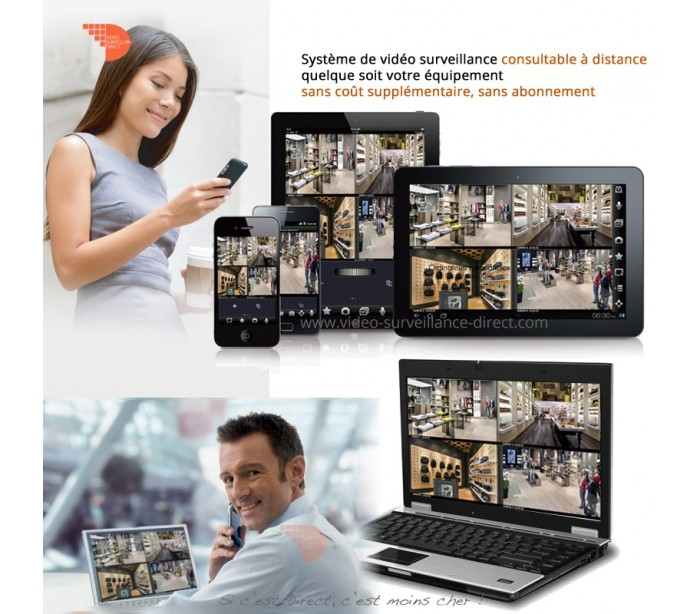 kit vid o surveillance hdcvi full 1080p vision de nuit 60 m tres. Black Bedroom Furniture Sets. Home Design Ideas