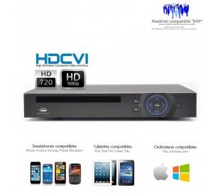 Enregistreur HDCVI 720P et 1080P 4 canaux de video surveillance
