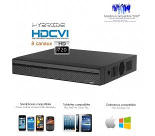 Enregistreur hybride HDCVI 8 canaux 720P