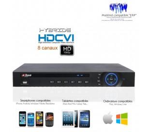 Enregistreur hybride 8 canaux HDCVI 1080P et 720P