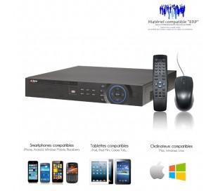 Enregistreur 16 canaux Full 960H et D1, sortie HDMI full HD