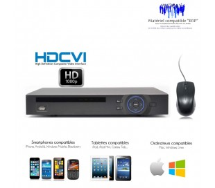 Enregistreur de videosurveillance Full 1080P HDCVI 4 canaux