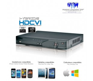 Enregistreur hybride HDCVI 4 canaux Full 720P