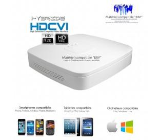 Enregistreur hybride 960H, 720P, 1080P de vidéo surveillance 4 canaux HD-CVI
