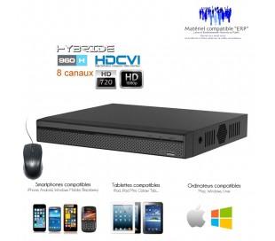 Enregistreur HDCVI Full 1080P pour 8 caméras de surveillance