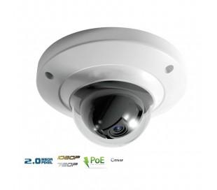 Caméra dôme IP antivandale 2 Megapixels focale fixe 2.8mm