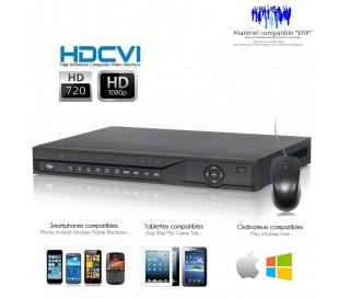 Enregistreur HDCVI 16 canaux de vidéo surveillance, Full 720P + 1080P