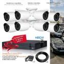 Kit de vidéo surveillance HD avec 8 caméras extérieures 720P