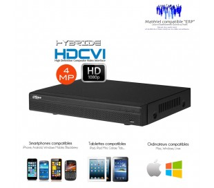 Enregistreur hybride HDCVI 4 canaux 4MP Full 1080P