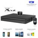 XVR 8 canaux Full 1080P + 4 caméras IP, entrées / sorties alarme
