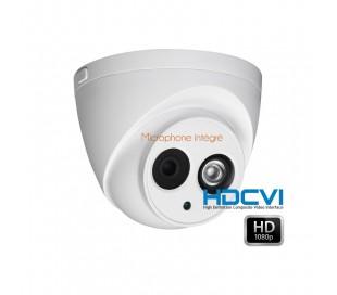 Caméra dôme HDCVI 1080P, focale 2.8mm IR 50 mètres