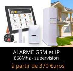 Alarme GSM et IP pas chère