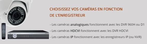 Chaque caméra correspond à un enregistreur