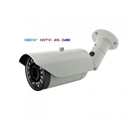 Caméra extérieure, série PRO, IR 40m. 2,4MP en 1080P.  Objectif 2,8-12 mm. OSD