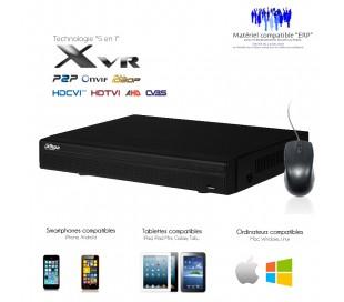 XVR 5 en 1 de 16 canaux 1080N/720P + 2 canaux IP 5MP, sortie SPOT