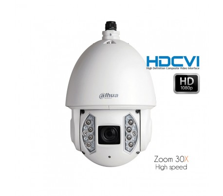 Caméra dôme motorisé 30x 6-180mm HDCVI Série Starlight