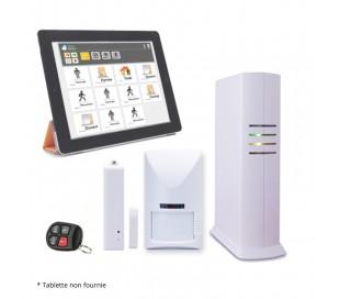 Kit alarme IP et GSM sans fil pour appartement