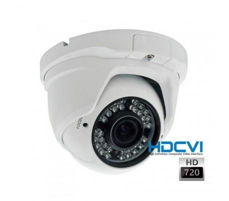 Caméra dôme HDCVI 720P varifocale infraouge 30 mètres