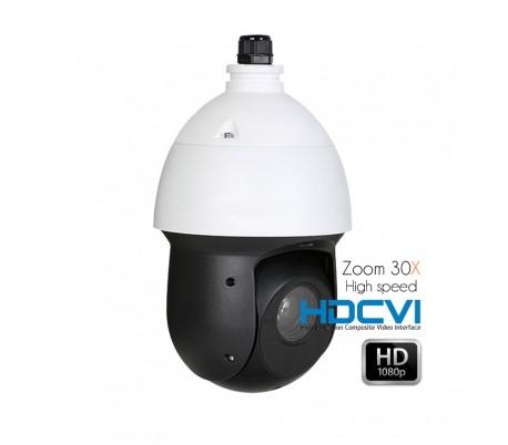 Dôme motorisé HDCVI High Speed 1080P zoom 4.3-129 mm vision de nuit à 150m