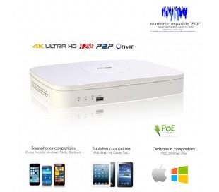 NVR 4 canaux série Lite 6MP avec 4 ports POE, taille mini