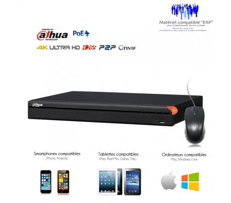 NVR professionnel 8 canaux 4K/8MP 4 ports POE