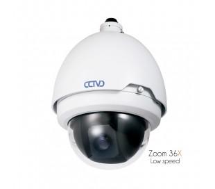 Caméra motorisée extérieure zoom 36x de 3.4 à 122,4mm, chauffage intégré.