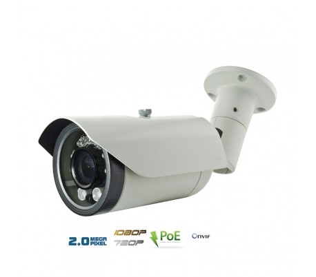 Caméra IP extérieure 2MP, PoE, autofocus 2,8-12mm, IR 40 m