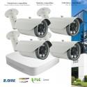 Système de video surveillance IP avec 4 caméras IP 2MP zoom motorisé