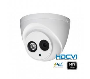 Caméra dôme extérieure HDCVI 2MP focale 2,8mm avec système PoC