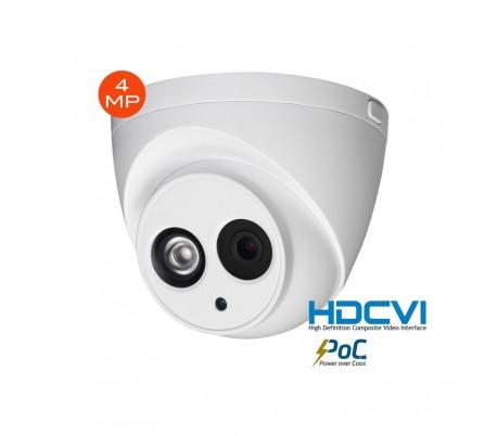 """Caméra dôme """"Poc"""" extérieure HDCVI 4MP focale 2,8mm, IR 50m, système PoC"""