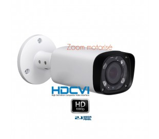 Camera de surveillance zoom motorisé 2.7-12mm 1080P 2.1 MP HDCVI IR 60M
