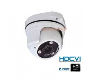 Caméra dôme de surveillance 1080P HDCVI zoom motorisé 2.7-12mm