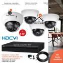 Kit  vidéo surveillance avec 4 dômes 4MP vision nocturne 30m