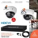 Kit vidéo surveillance avec 2 dômes 4MP vision nocturne 30m