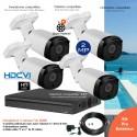 Kit vidéo surveillance extérieur avec 4 caméras zoom motorisé IR 50m