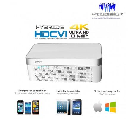 Enregistreur hybride HDCVI 4 canaux 4K/8MP