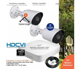 Système de vidéo surveillance 2 caméras HD 1080P