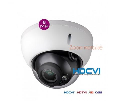 Caméra dôme 6MP zoom motorisé 2.7-13,5 mm HDCVI