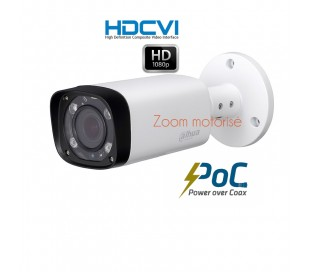 "Camera de surveillance zoom motorisé 2.7-13.5mm ""PoC"" 2MP IR 60M"